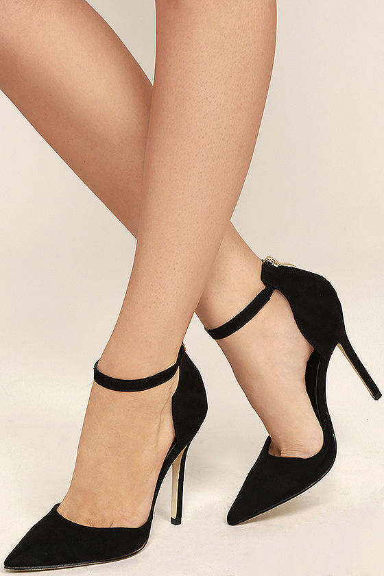 black suede heels harvest party black suede ankle strap heels DQMLSBE