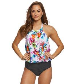 blouson swimsuit athena tropical trip blouson one piece swimsuit SLXRNGH