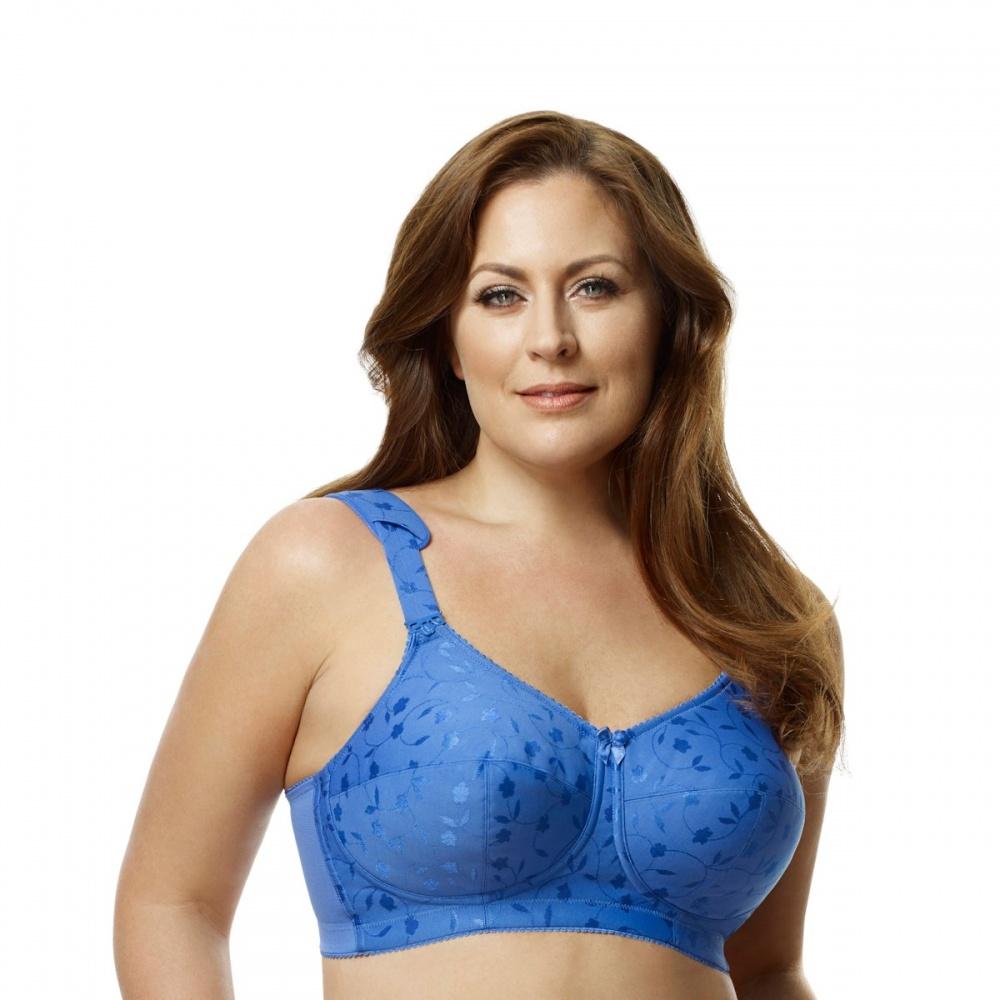 Blue Bra elila jacquard tricot soft cup bra blue ISAZYRA