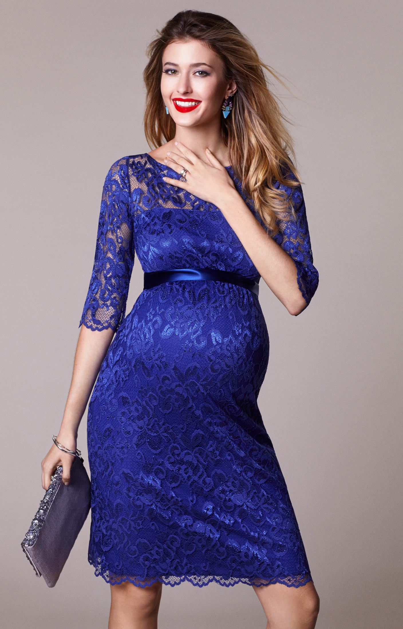 blue dresses amelia maternity lace dress short royal blue by tiffany rose VYSLFMA
