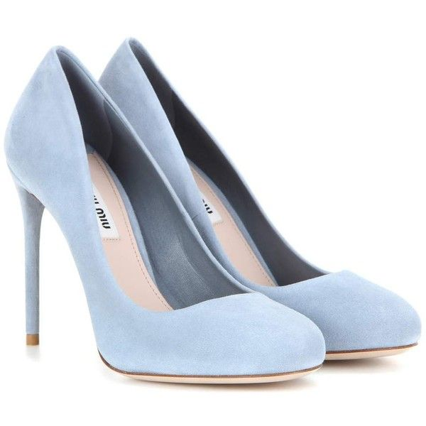 blue pumps miu miu suede pumps (1 010 aud) ❤ liked on polyvore featuring shoes, pumps, JHKSZJQ