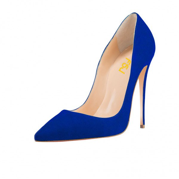 blue pumps royal blue stiletto heels pumps for office lady image 1 ... ZTFJOLZ