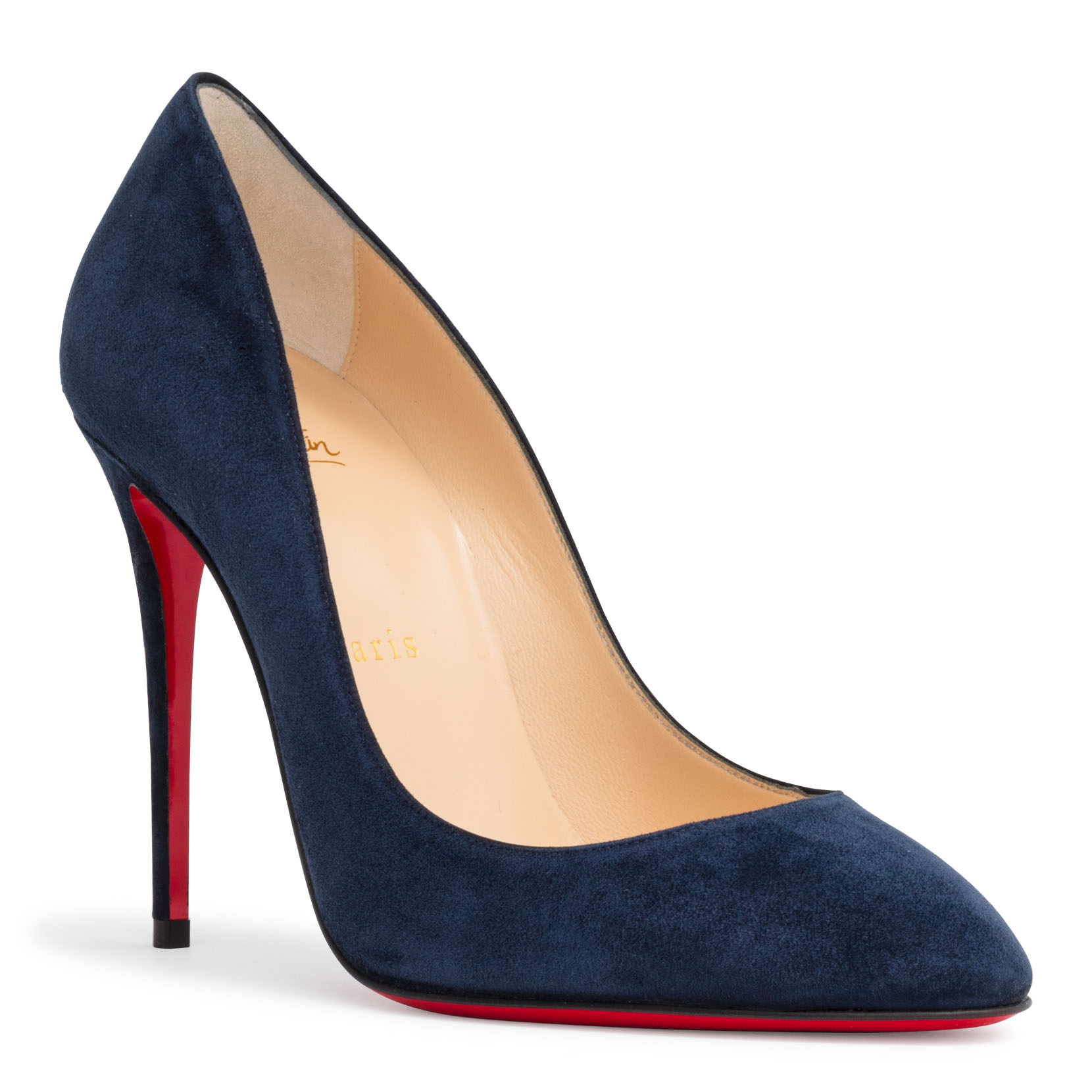 Blue suede pumps eloise 100 dark blue suede pumps, , hi-res ... EKTUGQX