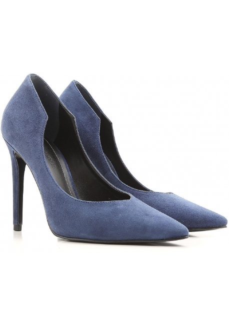 Blue suede pumps kendall+kylie heels pumps in blue suede leather CTYEICI