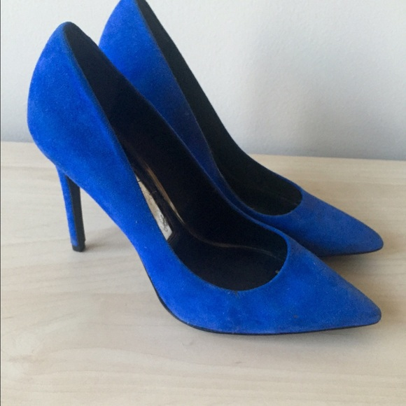 Blue suede pumps royal blue suede heels size 8 by boutique 9 OZBKAJO
