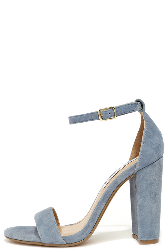 Blue suede pumps steve madden carrson blue suede leather ankle strap heels LGGFHDZ