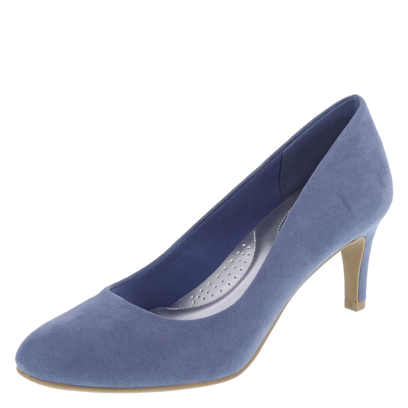 Blue suede pumps womenu0027s karma round-toe pump, blue suede COOGWIM