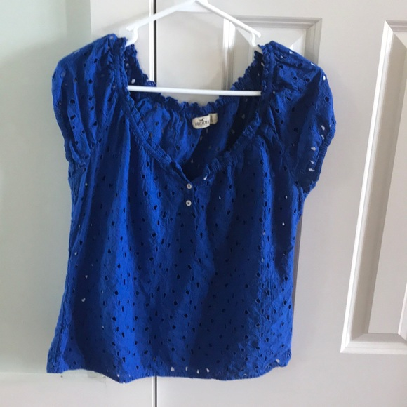 blue tops hollister large blue top SCQCWJB