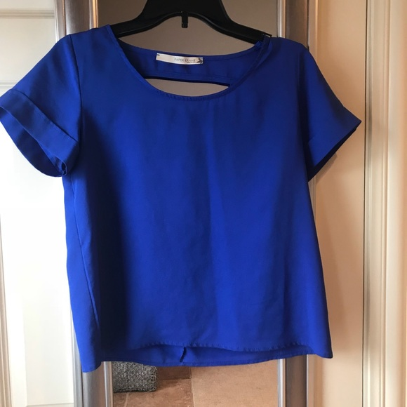 blue tops royal blue top, backless! brand new GGZVHAN