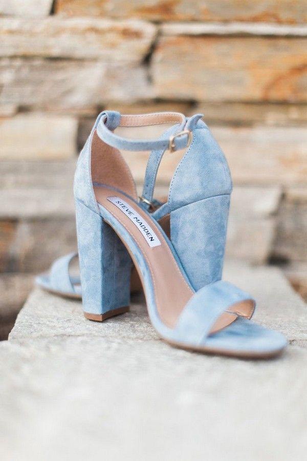 blue wedding shoes dusty blue pretty bridal shoes MAOWLCH