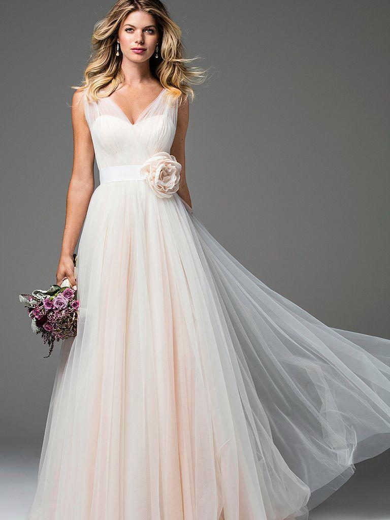 Blush Wedding Dresses blush pink wedding gown by wtoo QXZEKCC