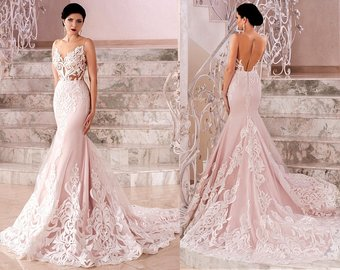 Blush Wedding Dresses blush wedding dress | etsy RMZFXAL