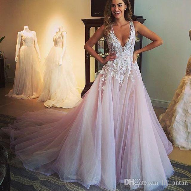 Blush Wedding Dresses we could custom make it according to your detailed request. designer blush  wedding dresses NZMUNLF