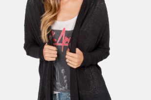 bonne draper black cardigan sweater ODKBRRB