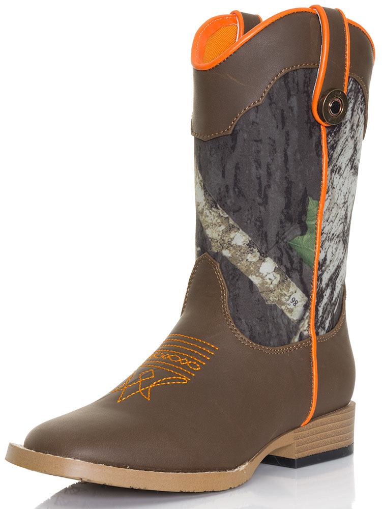 boys boots dbl barrel boyu0027s buckshot mossy oak® camo boots - kid sizes (10.5-3 AYCVNYU