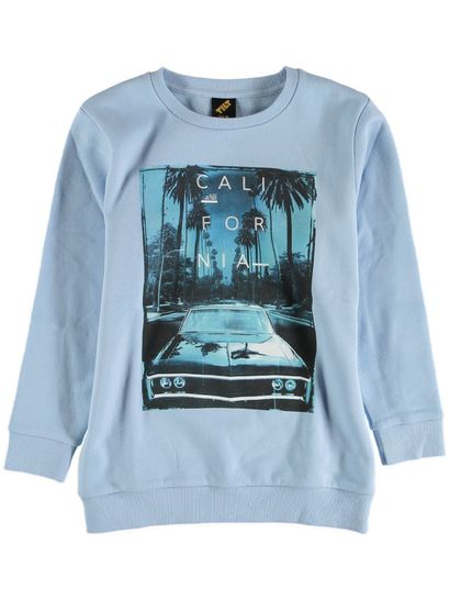boys jumpers boys print fleece crew sweater DIAZZVY