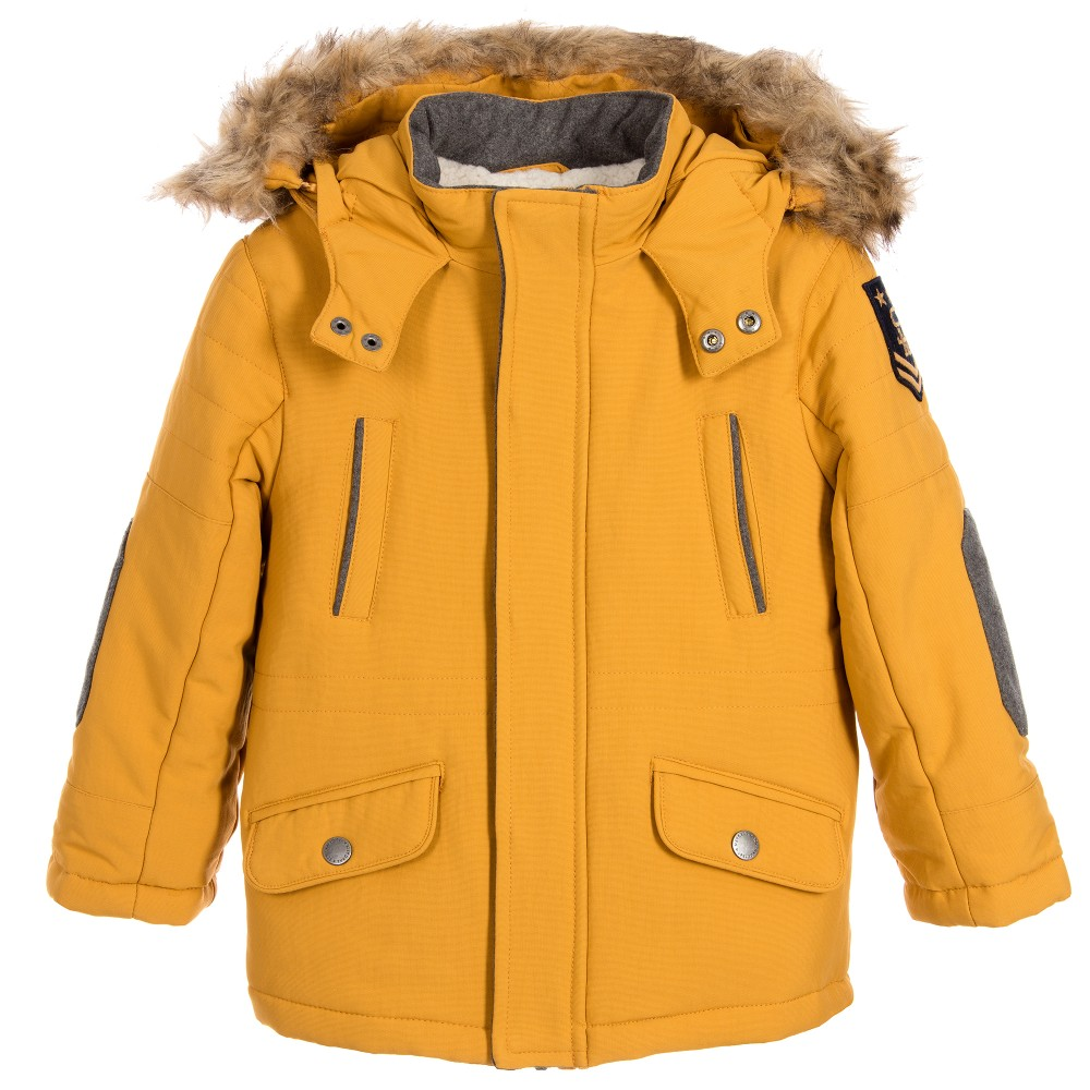 boys parka coats mayoral - boys yellow parka coat | childrensalon BAUSAUY