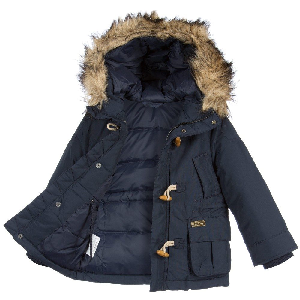 boys parka coats ... ralph lauren boys navy blue down padded parka coat4 ... PIVLVWA