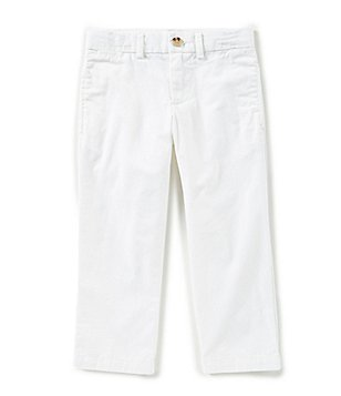 Boys white pants ralph lauren childrenswear little boys 2t-7 suffield flat-front chino pants ITYBXKO