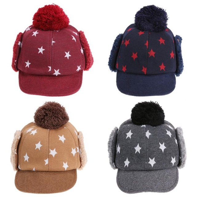boys winter hats baby kids winter hats 4colors 1-5 years boys girls hats kids warm winter  caps CNPUXCX