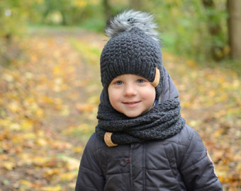 boys winter hats toddler boy knit hat, wool baby boy hat, toddler boy winter hat, faux fur HBEZQHX