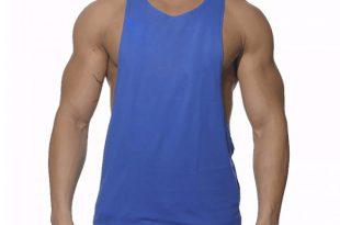 brand large split new cotton sleeveless shirts tank top men fitness shirt  mens singlet AYBHIZF