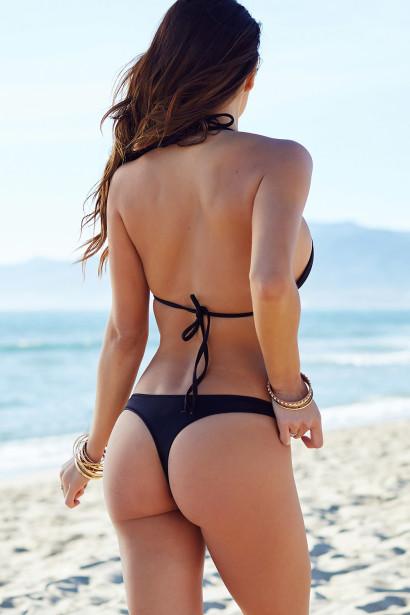Brazilian cut bikini solid black triangle top u0026 sexy brazilian cut thong bikini BETMJMM