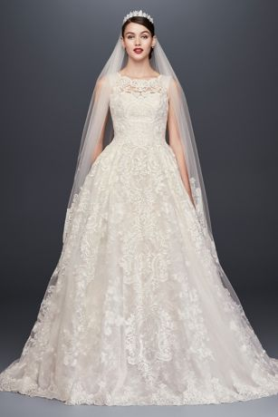 bridal dress long ballgown formal wedding dress - oleg cassini WDTUNKQ