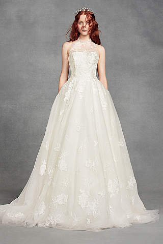 bridal dress long ballgown romantic wedding dress - white by vera wang NTFIIJZ