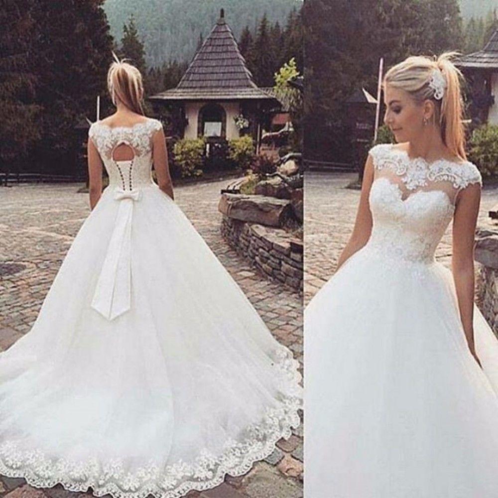 bridal dress new white/ivory wedding dress bridal gown stock size  4-6-8-10-12-14-16++++++ | ebay LAPNKPD
