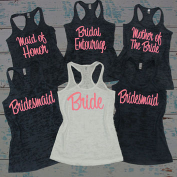 Bridesmaid Tank Top 5 bridesmaids tank tops s-2xl. bachelorette party shirts. bridal party tank  tops. scri QKNPWNT