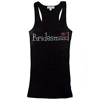 Bridesmaid Tank Top crystal bridesmaid tank tops (small, black) CPBHGEU