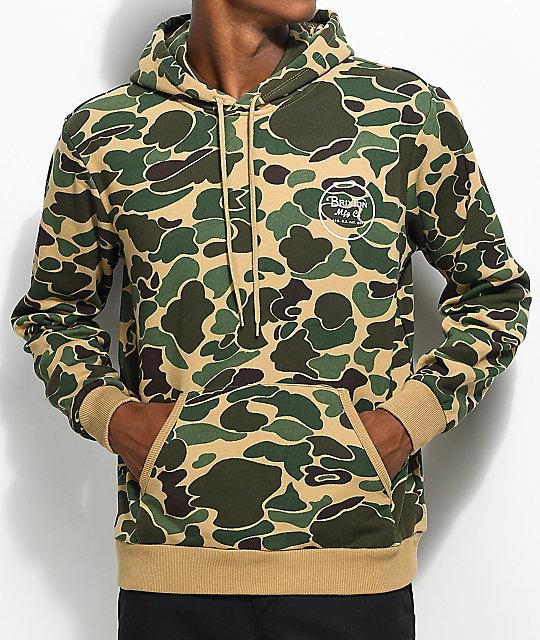 brixton wheeler camo hoodie ... QWIVCFT