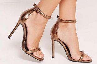 Bronze Heels bronze metallic rounded strap barel there heels XQTDKNK