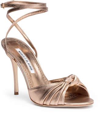 Bronze Heels free returns at savannahs · manolo blahnik mumuye 105 nappa light bronze  sandal EEECKZT