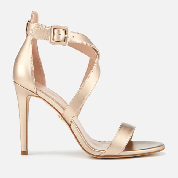 Bronze Heels kurt geiger london womenu0027s knightsbridge cross strap leather heeled sandals  - bronze: image 1 JECUJJE