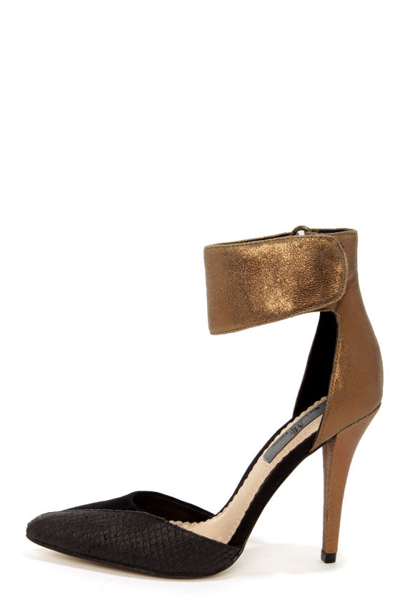 Bronze Heels mia limited edition sydney bronze leather ankle strap heels QEFVEEO
