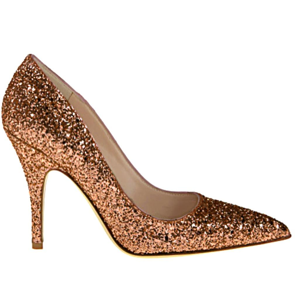 Bronze Heels womenu0027s sparkly glitter heels pointed toe pumps shoes -copper bronze MSDUHQS