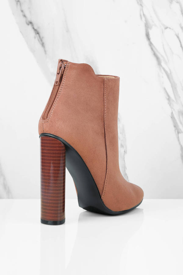 brown heeled boots limay brown heeled booties limay brown heeled booties ... VKTTVEF