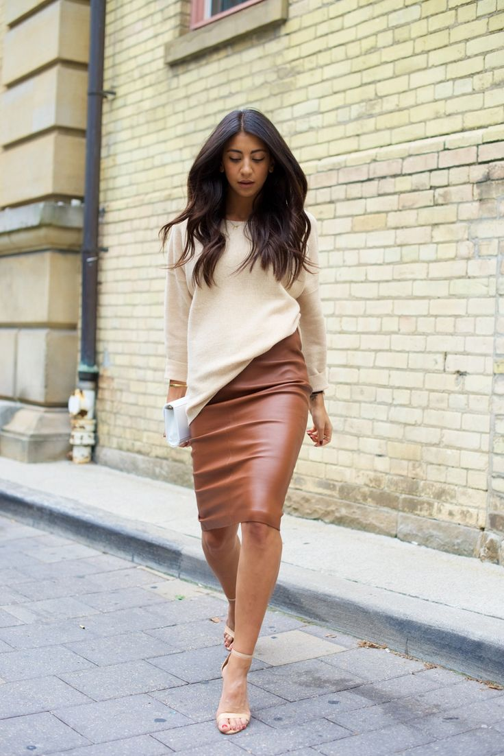 Brown Leather Skirt brown leather pencil skirt | not your standard JDMOAQM