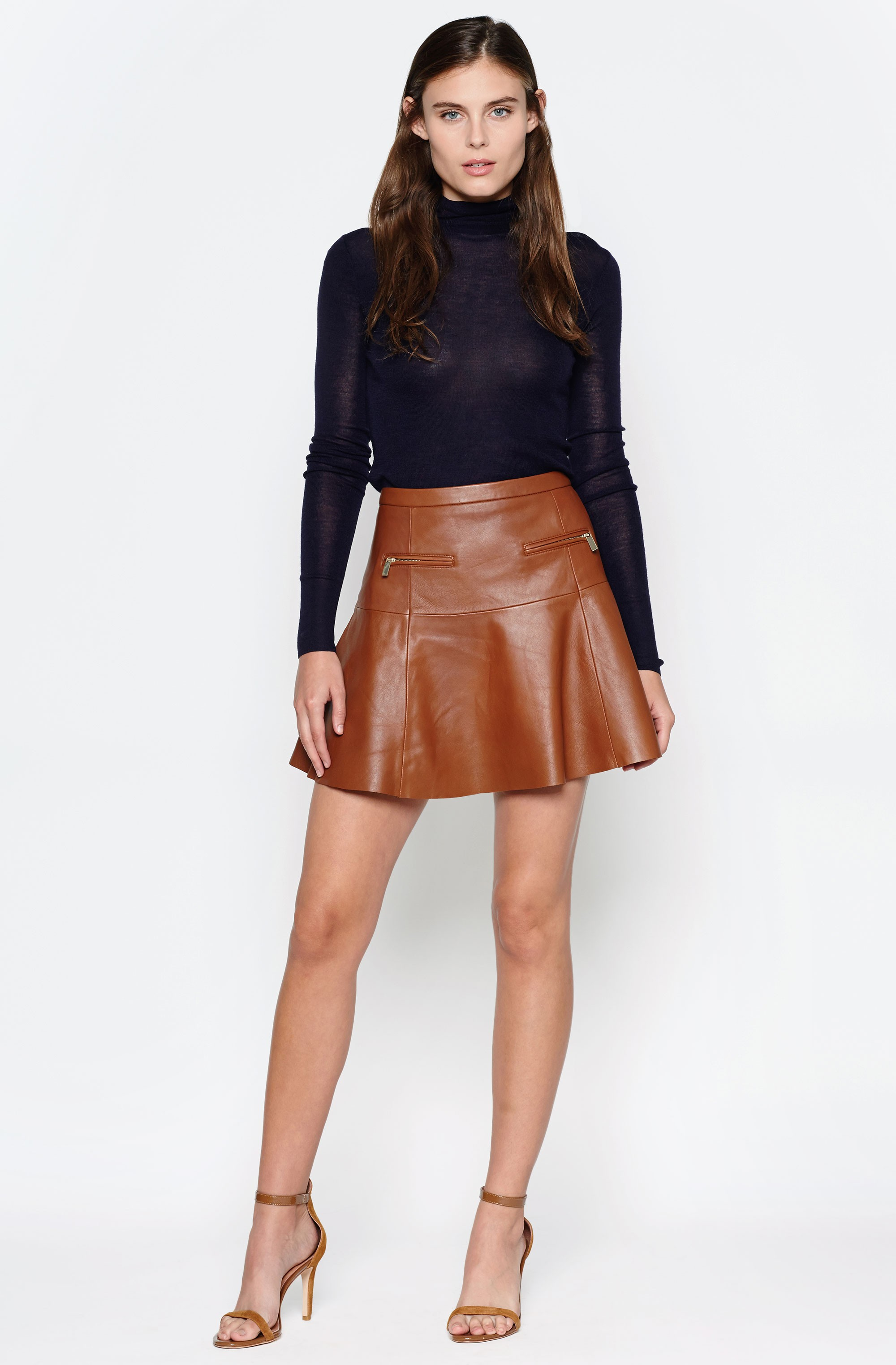 Brown Leather Skirt gallery. womenu0027s leather mini skirts JGYWZYV