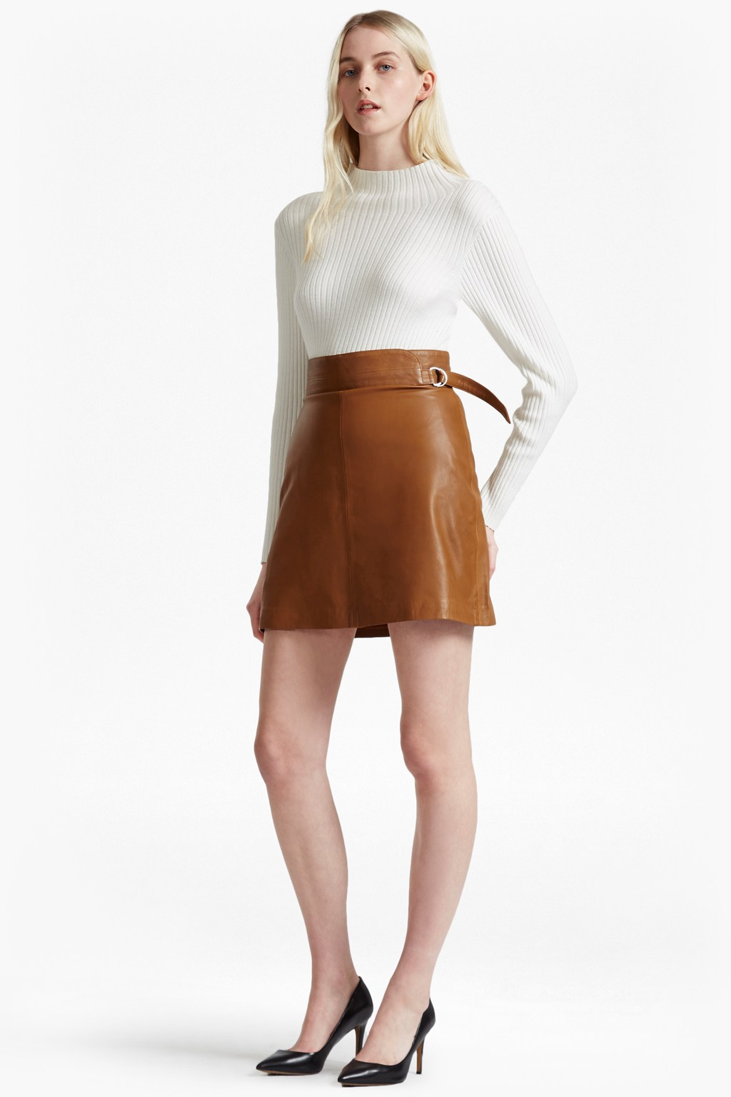 Brown Leather Skirt goldenberg a line leather skirt. loading images. SSIQUNM