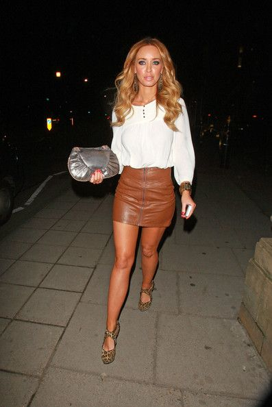 Brown Leather Skirt lauren pope mini skirt OQAXKDP