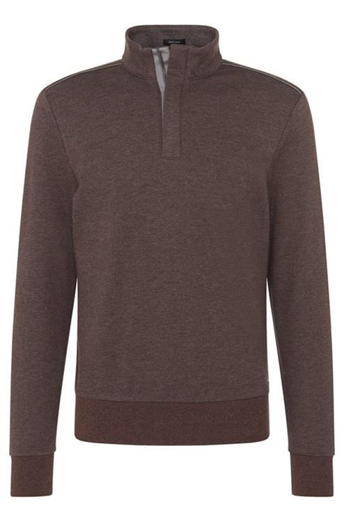 Brown Sweaters boss cotton zip troyer sweater brown sweaters uk | men hugo boss cheap JUKROAR