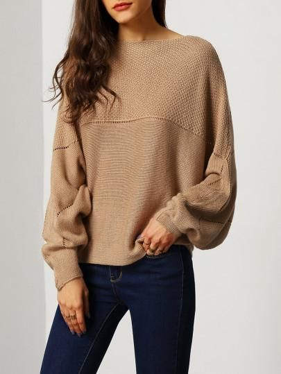 Brown Sweaters brown fall sweater, casual trendy brown sweater, boat neck sweaters - lyfie WGCTQRM