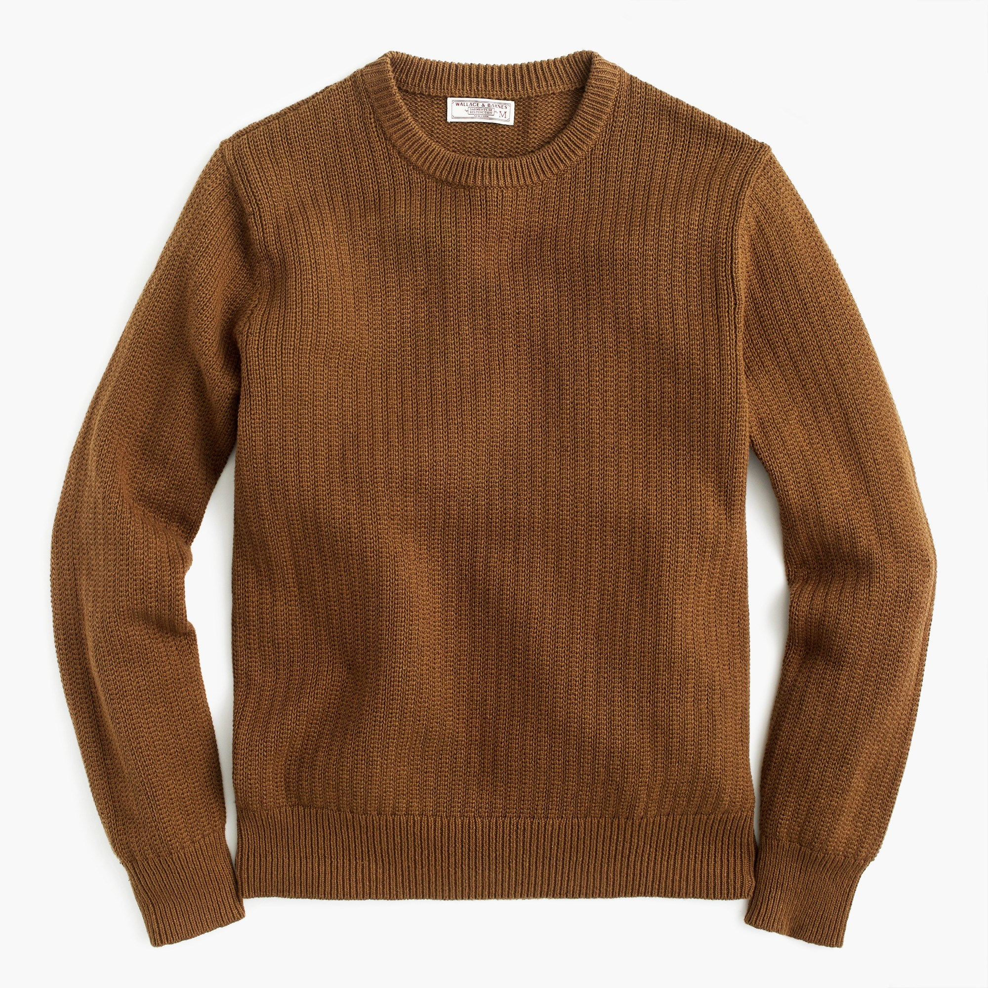 Brown Sweaters menu0027s wallace - barnes cotton sweater in brown vertical stitch - menu0027s  sweaters KEHKFSG