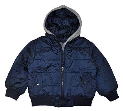 bubble coats calvin klein little boys navy blue hooded bubble jacket (2t) NMCPRBY