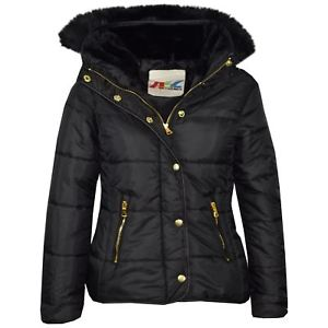 bubble coats image is loading girls-jacket-kids-black-padded-puffer-bubble-faux- BBQVPQH