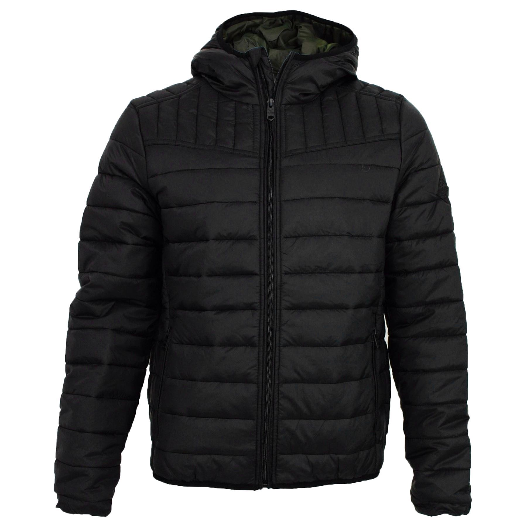 bubble coats mens-threadbare-hooded-padded-quilted-lined-puffa-jacket- PWHUUJB