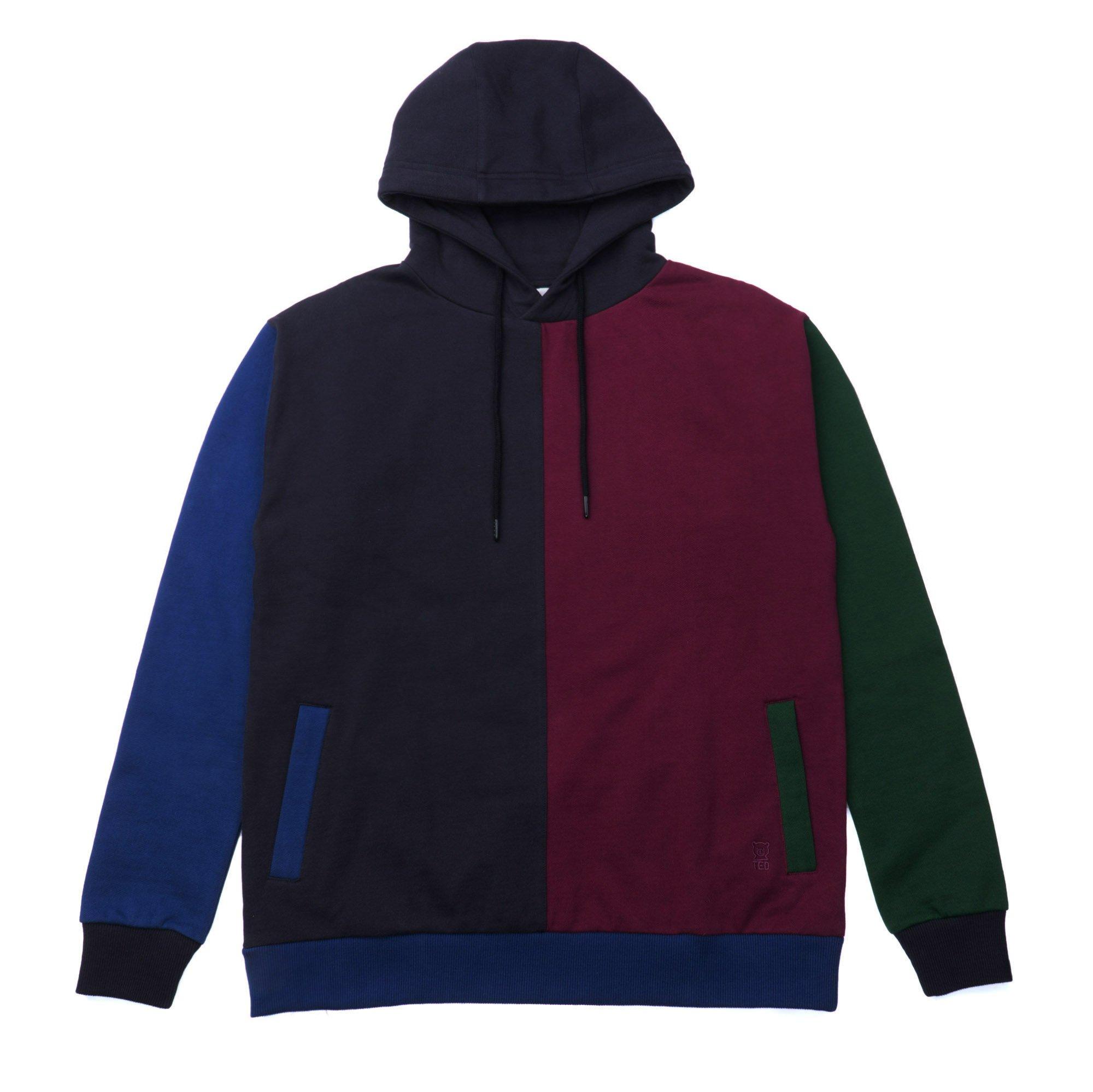burgundy hoodie burgundy color block hoodie TXKIZXL